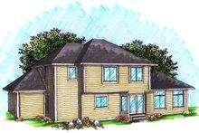 Dream House Plan - Ranch Exterior - Rear Elevation Plan #70-1033