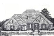 European Style House Plan - 4 Beds 3.5 Baths 2778 Sq/Ft Plan #310-874 Exterior - Front Elevation