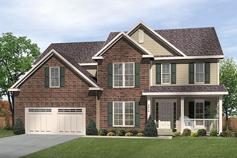 Traditional Style House Plan - 4 Beds 3.5 Baths 2779 Sq/Ft Plan #22-539