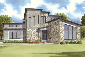 Contemporary Exterior - Front Elevation Plan #17-2590