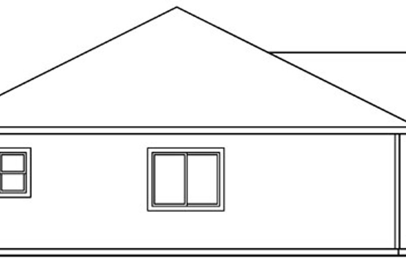 Ranch Exterior - Other Elevation Plan #124-394 - Houseplans.com