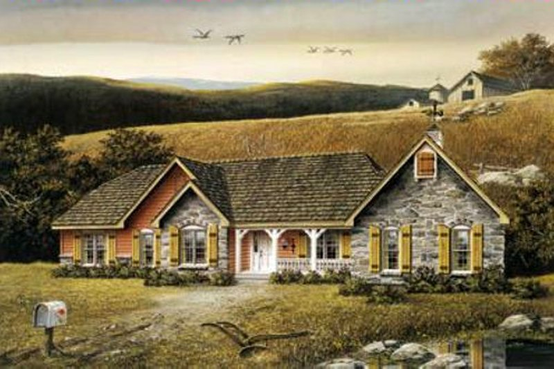 Traditional Exterior - Other Elevation Plan #57-102 - Houseplans.com