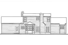 Home Plan - Southern Exterior - Rear Elevation Plan #3-160