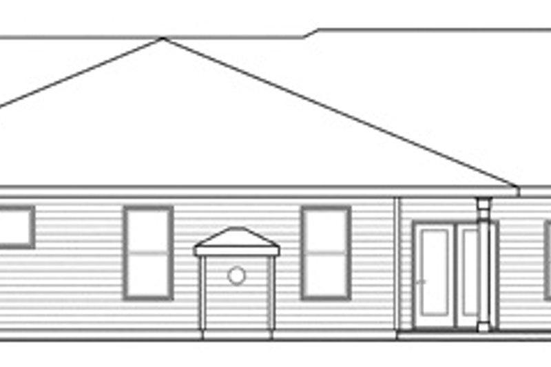 Ranch Exterior - Rear Elevation Plan #124-856 - Houseplans.com