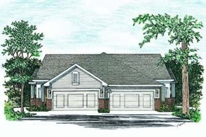 Traditional Exterior - Front Elevation Plan #20-393