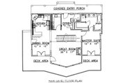 Cabin Style House Plan - 3 Beds 2.5 Baths 2281 Sq/Ft Plan #117-549 Floor Plan - Main Floor