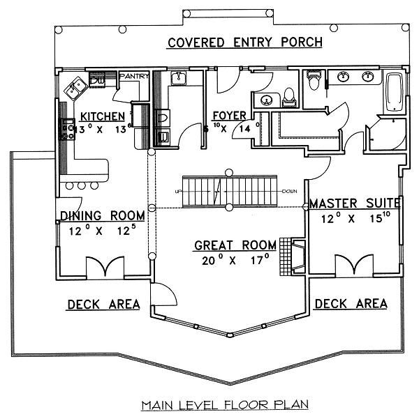 Cabin Floor Plan - Main Floor Plan Plan #117-549