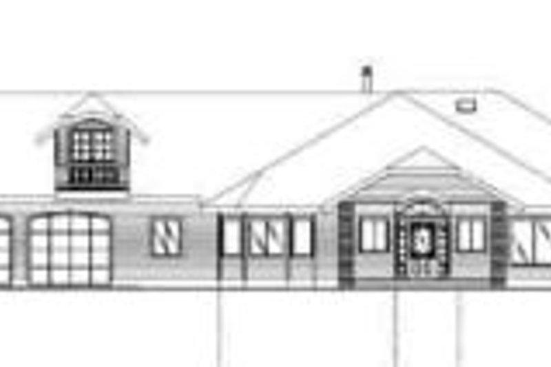 Traditional Exterior - Rear Elevation Plan #117-155 - Houseplans.com