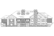 Home Plan - Country Exterior - Rear Elevation Plan #5-416