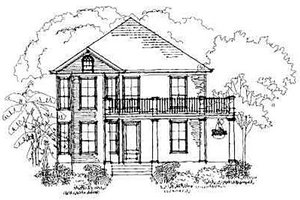 Southern Exterior - Front Elevation Plan #325-180