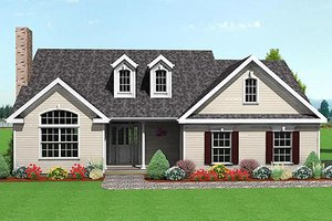 Farmhouse Exterior - Front Elevation Plan #75-105