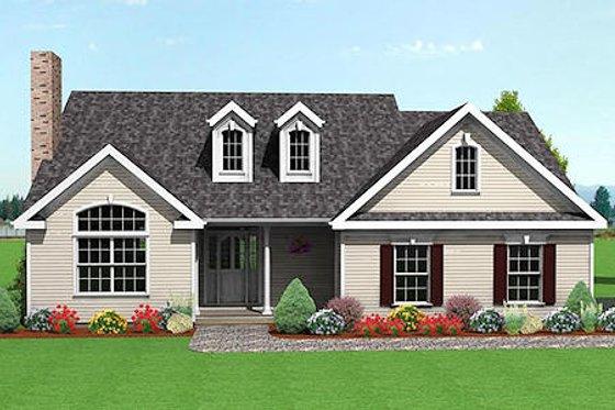 Farmhouse Exterior - Front Elevation Plan #75-105