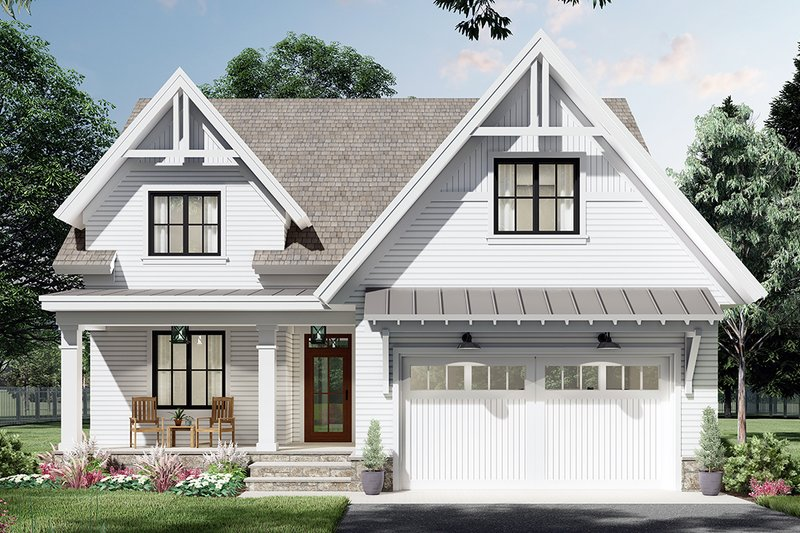 Architectural House Design - Farmhouse Exterior - Front Elevation Plan #51-1172