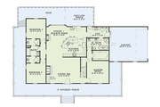 Country Style House Plan - 3 Beds 3 Baths 1921 Sq/Ft Plan #17-235 Floor Plan - Main Floor Plan
