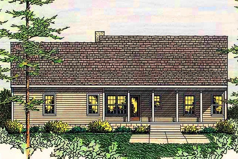 Country Exterior - Rear Elevation Plan #406-132 - Houseplans.com
