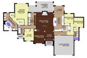 European Style House Plan - 3 Beds 3 Baths 2450 Sq/Ft Plan #534-1 Floor Plan - Main Floor Plan