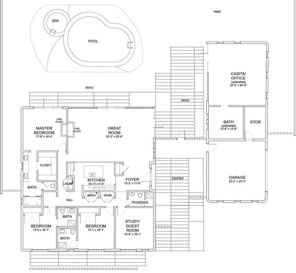 Modern Floor Plan - Main Floor Plan Plan #535-9