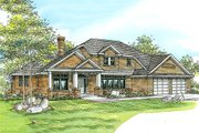 Traditional Style House Plan - 4 Beds 2.5 Baths 2922 Sq/Ft Plan #124-212 Exterior - Front Elevation