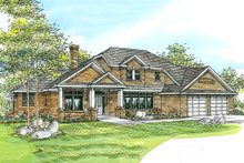 Dream House Plan - Traditional Exterior - Front Elevation Plan #124-212