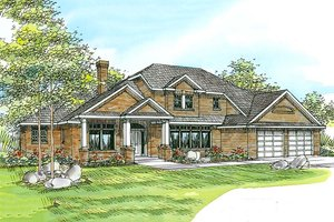 Traditional Exterior - Front Elevation Plan #124-212