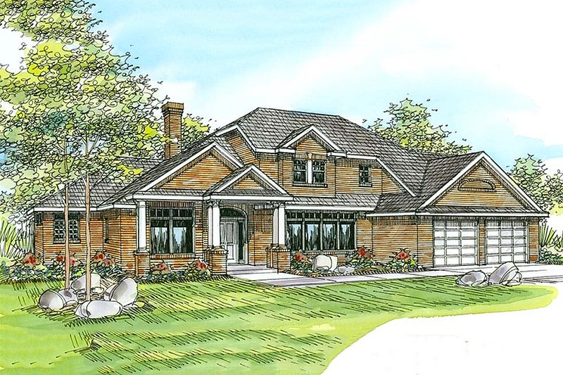 Home Plan - Traditional Exterior - Front Elevation Plan #124-212