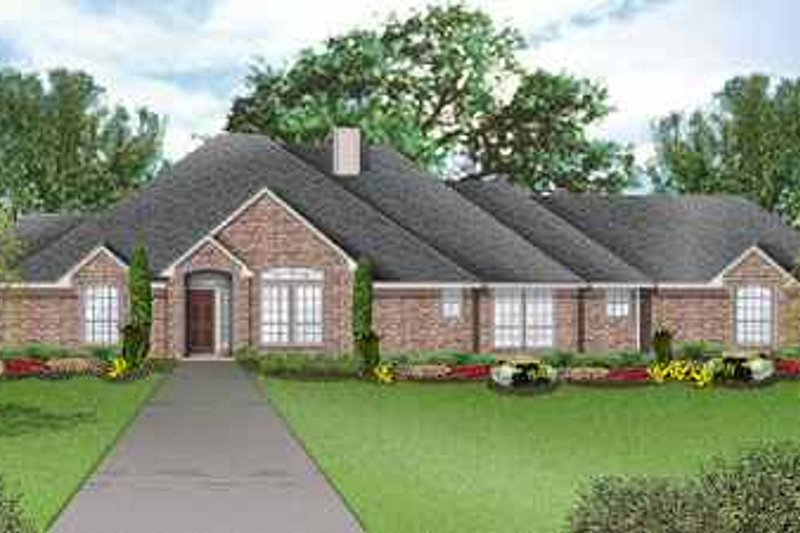Traditional Exterior - Front Elevation Plan #84-137 - Houseplans.com