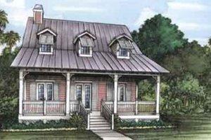 Cottage Exterior - Front Elevation Plan #115-134