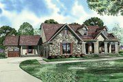 European Style House Plan - 5 Beds 3 Baths 4827 Sq/Ft Plan #17-2272 Exterior - Front Elevation