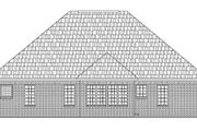 Southern Style House Plan - 3 Beds 2 Baths 1502 Sq/Ft Plan #21-207 Exterior - Rear Elevation
