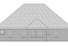 Southern Exterior - Rear Elevation Plan #21-207