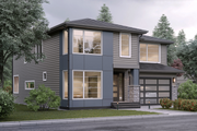 Contemporary Style House Plan - 4 Beds 3 Baths 2899 Sq/Ft Plan #1066-6 Exterior - Front Elevation