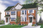 Traditional Style House Plan - 3 Beds 1.5 Baths 2208 Sq/Ft Plan #23-2051 Exterior - Front Elevation
