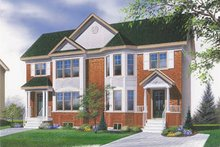 Dream House Plan - Traditional Exterior - Front Elevation Plan #23-2051