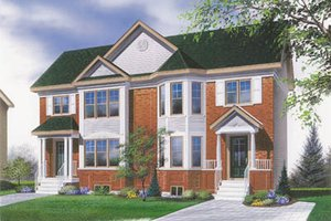 Traditional Exterior - Front Elevation Plan #23-2051
