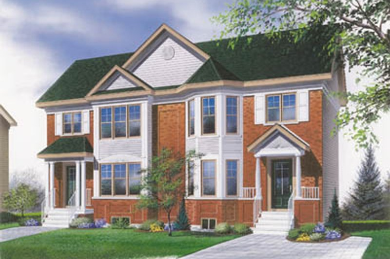 Home Plan - Traditional Exterior - Front Elevation Plan #23-2051