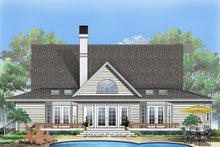 Country Exterior - Rear Elevation Plan #929-87