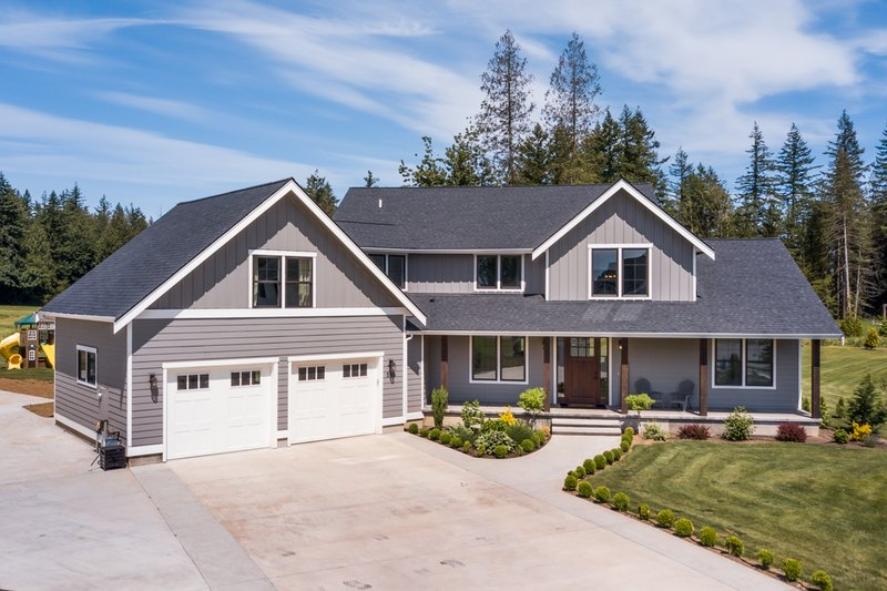 Home Plan - Contemporary Exterior - Front Elevation Plan #1070-81