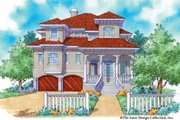 Mediterranean Style House Plan - 3 Beds 3.5 Baths 2374 Sq/Ft Plan #930-16 Exterior - Front Elevation