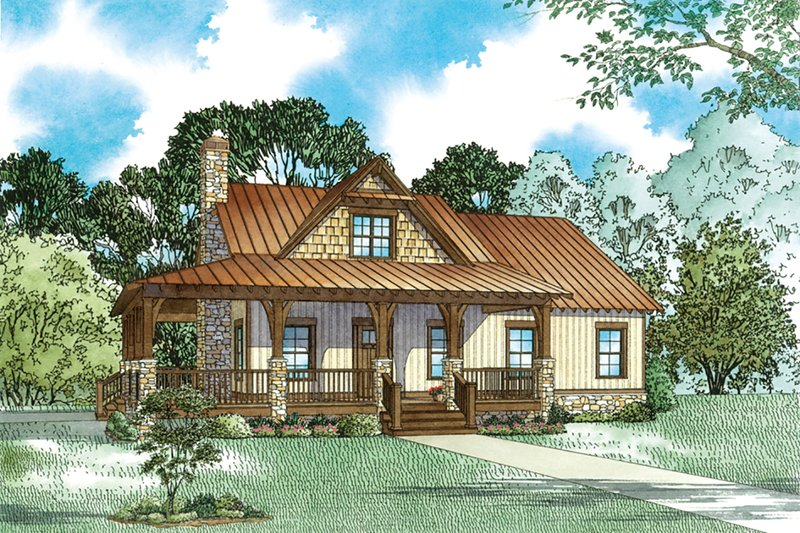 Dream House Plan - Craftsman Exterior - Front Elevation Plan #17-3427