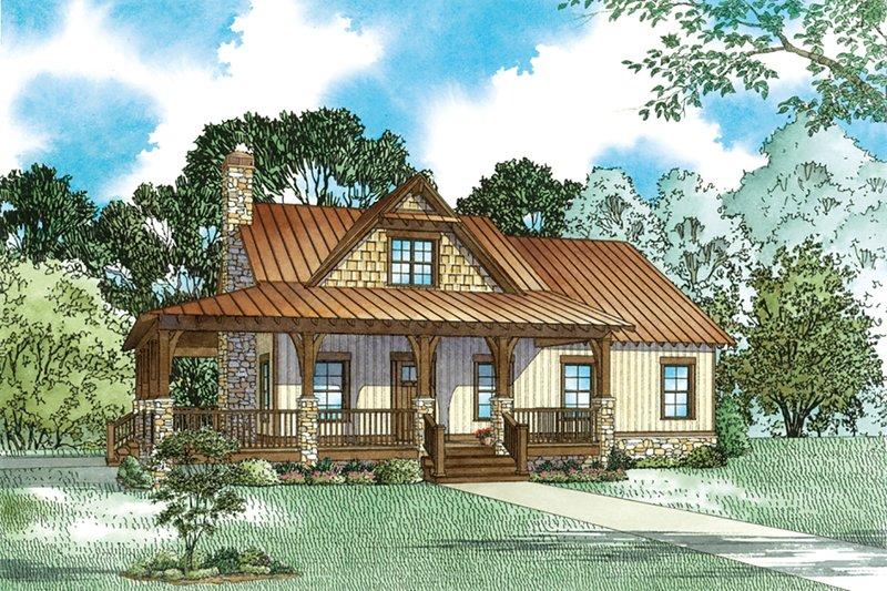 Dream House Plan - Craftsman Exterior - Front Elevation Plan #17-3427