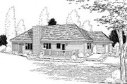 Traditional Style House Plan - 3 Beds 2 Baths 1738 Sq/Ft Plan #312-251 Exterior - Rear Elevation