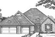 European Style House Plan - 4 Beds 2.5 Baths 2057 Sq/Ft Plan #310-397 Exterior - Front Elevation