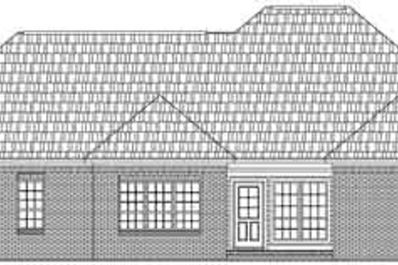 Traditional Exterior - Rear Elevation Plan #21-164 - Houseplans.com