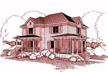 Dream House Plan - Traditional Exterior - Front Elevation Plan #79-238