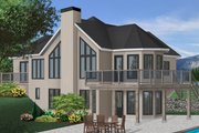 Modern Style House Plan - 2 Beds 2 Baths 1400 Sq/Ft Plan #23-162 Exterior - Front Elevation