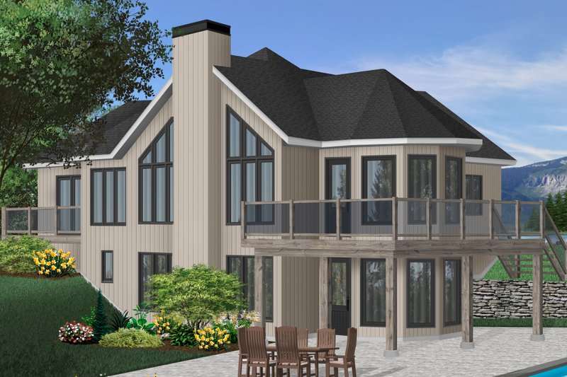 Modern Exterior - Front Elevation Plan #23-162