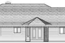 Home Plan - Traditional Exterior - Rear Elevation Plan #70-645