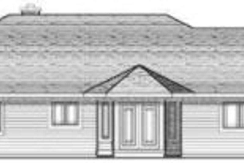 Traditional Exterior - Rear Elevation Plan #70-645 - Houseplans.com