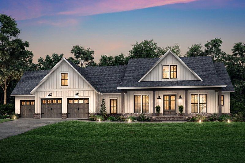 Dream House Plan - Farmhouse Exterior - Front Elevation Plan #430-205