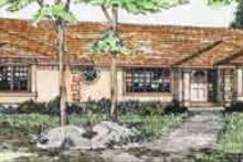 Home Plan - Mediterranean Exterior - Front Elevation Plan #126-124